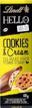 Lindt Hello Cookies&Cream Riegel 100 Gramm
