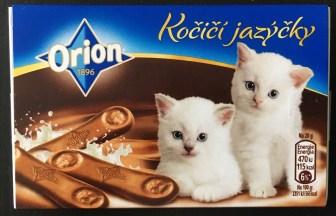 Nestlé Orion Schoko-Katzenzungen Tschechien