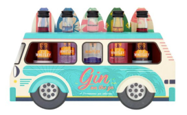 Street Food Truck Gin New Vision Packaging London Gin on the go Bus