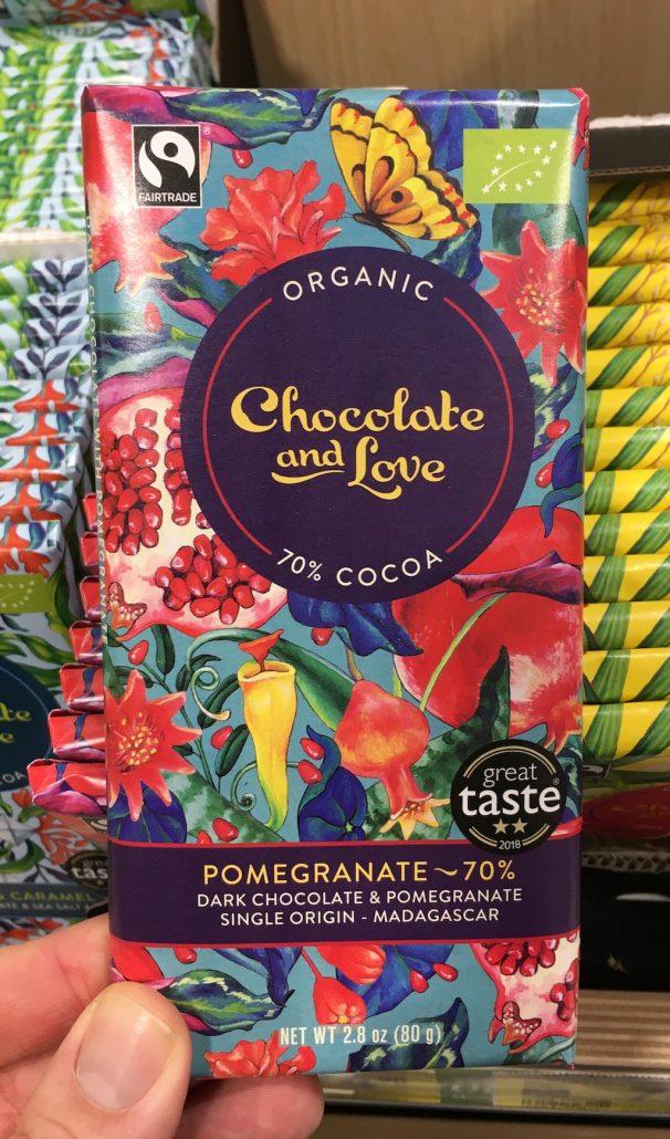 Organic Chocolate and Love Pomegranate 70% kaka0 80 Gramm