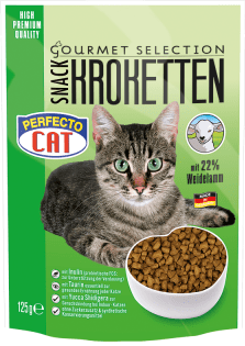 Perfecto Cat Gourmet-Selection Kroketten-Snack mit Weidelamm 125g