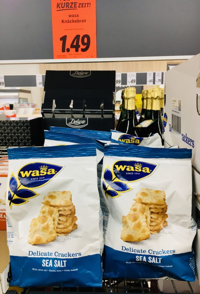 Wasa Delicate Crackers Sea Salt