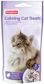 beaphar Calming Cat Treats Reduce problem behaviour Chicken flavour Valerian mit Baldrian