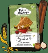 Farm Brothers BioKeks mit Haselnuss und Zimt.