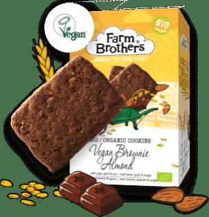 Farm Brothers Bio-Kekse: Veganes Mandel-Brownie.
