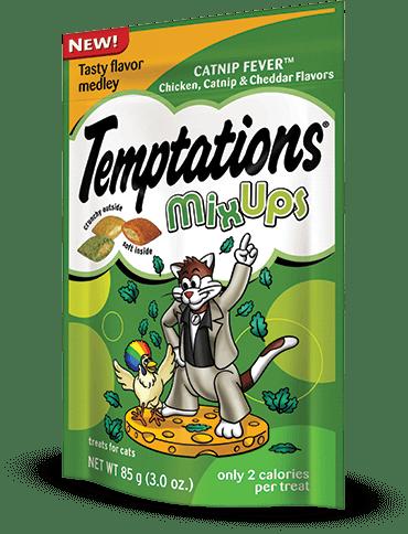 Whiskas temptations catnip fever mixups Chicken Catnip Cheddar Flavors