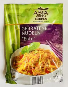 Aldi Asia Green Garden Gebratene Nudeln ENTE 2 Portionen