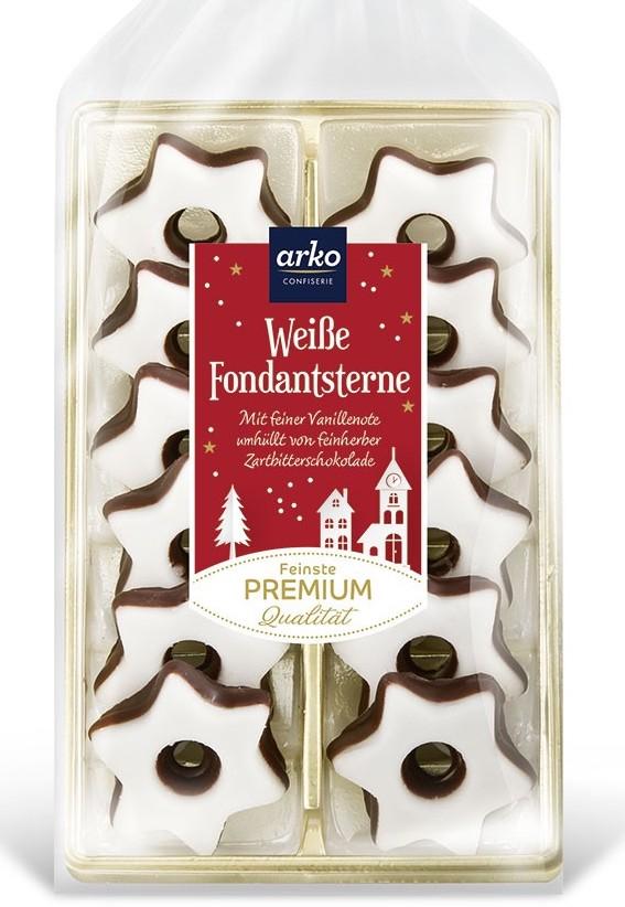 Arko Weiße Fondantsterne Premium