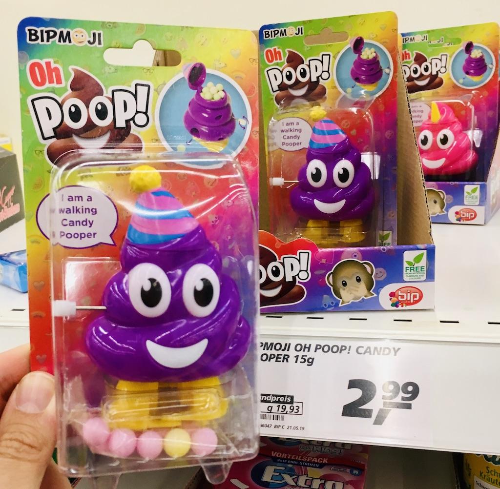 BIP MOJI oh Poop Walking Candy Pooper Spielzeug