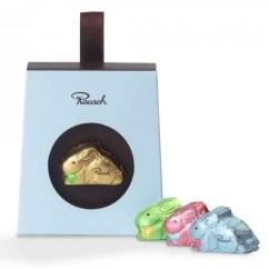 Rausch Osterhase aus Schokolade, klein, in blauer Packung