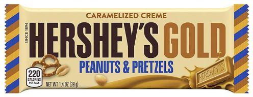 Hershey's Gold Peanuts+Pretzels Caramelized Creme