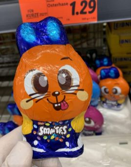 Nestlé Smarties Orange als Osterhase