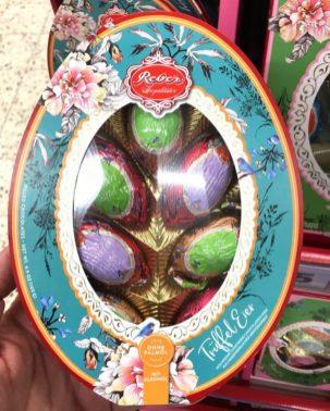 Reber Ostern 2020 Trüffel-Eier ohne Palmöl mit Alkohol Eiform