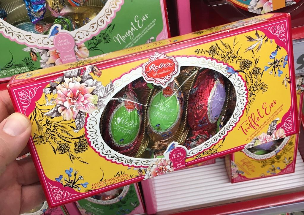 Reber Trüffeleier Ostern 2020 Florale Motive