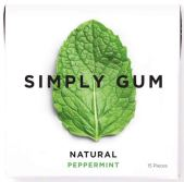 Simply Gum Natural Peppermint 15 Pieces