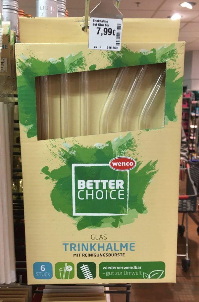 wenco Better Choice Trinkhalme aus Glas mit Reinigungsbürste