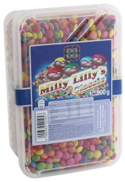 Agilus Dragees Bunte Schokolinsen Milly Lilly Classic 900G