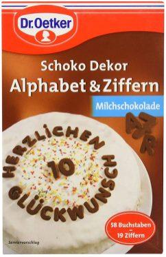 Dr. Oetker SchokoDekor Alphabet+Ziffern