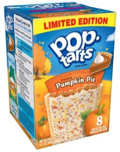 Kellogg's Po-Tarts Limited Edition Frosted Pumpkin Pie 8er