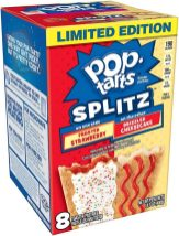 Kellogg's Pop-Tarts SPLITZ Frosted Strawberry - Drizzled Cheesecake 8er