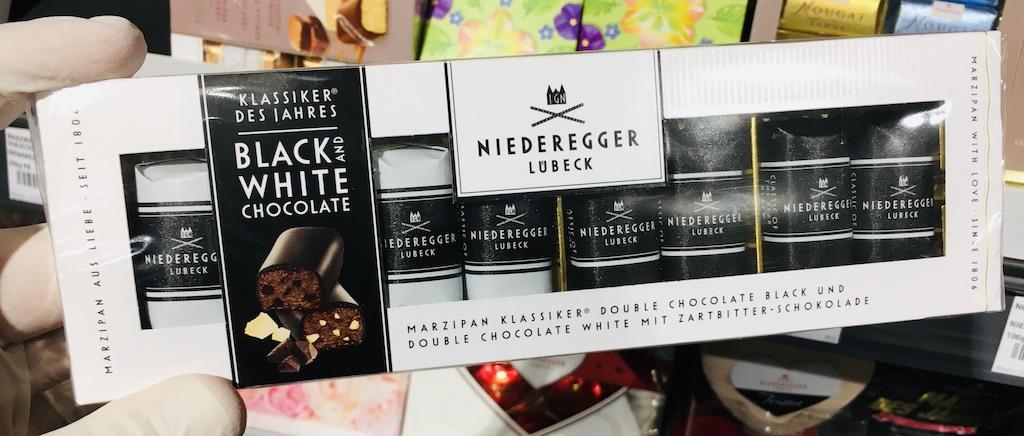 Niederegger Lübeck Black+White ChocolateMarzipan-Klassiker