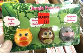 Norma Jungle Friends Lippenbalsam Apfel-Banane-Himbeere Tiermotive