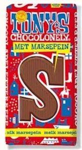 Tony's Chocolonely Schokoladen-Buchstabe chocoladeletter Holland S