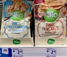 dm Bio Dinkel-Kaiserschmarrn und Dinkel-Pancakes Backmischungen 135G