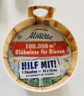 Almette Frischkäse-Fässchen 100000qm Blühwiese für Bienen