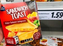 Chef Select Sandwich Toast Käse-Salmi-Jalapenos für den Toaster 2er