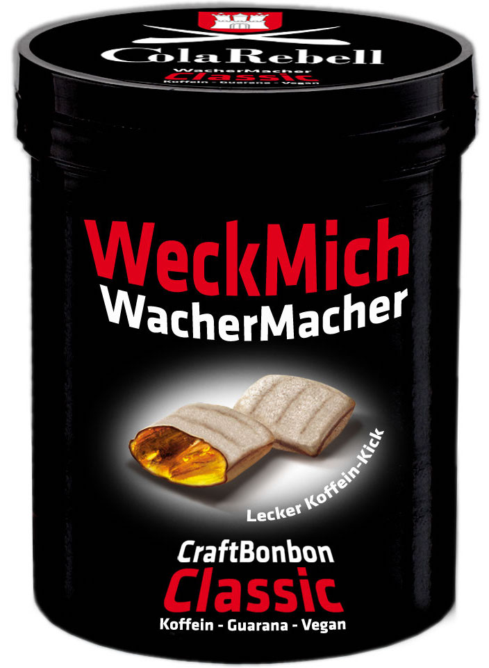Cola Rebell WeckMich WacherMacher CraftBonbon Koffein-Guarana-Vegan