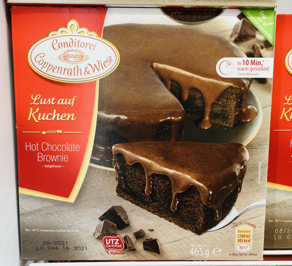 Conditorei Coppenrath&Wiese Lust auf Kuchen Hot Chocolate Brownie 465G