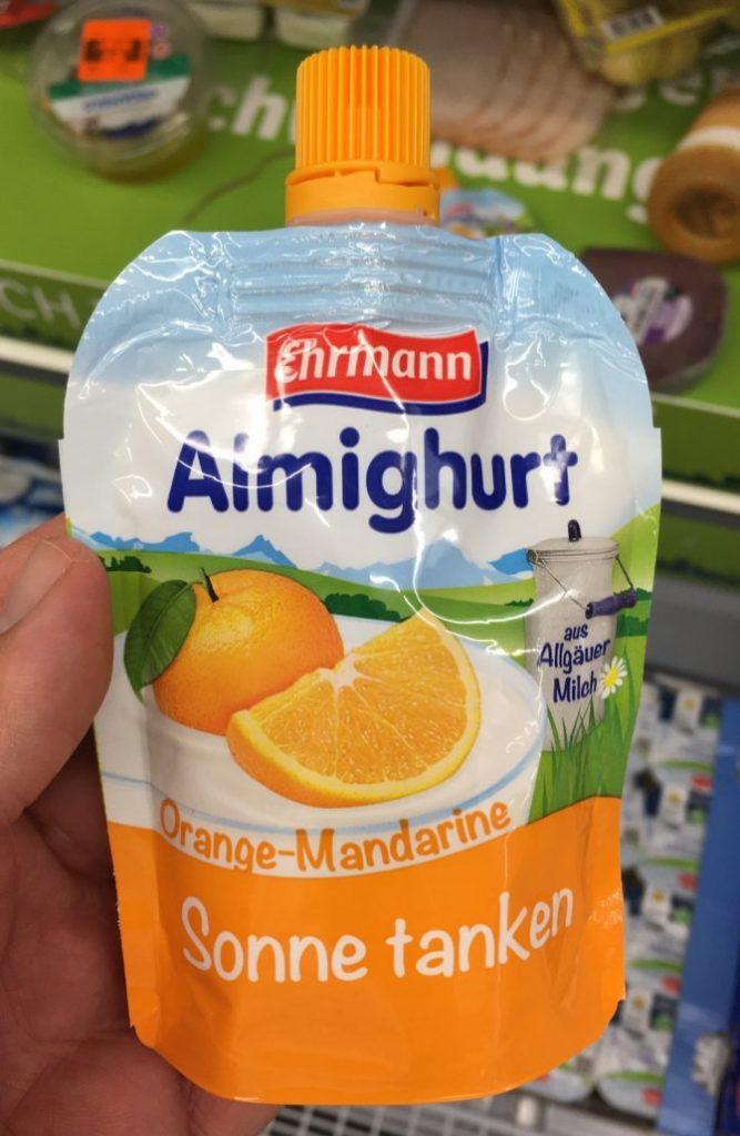 Ehrmann Almighurt Orange-Mandarine Sonne Tanken Quetschtube