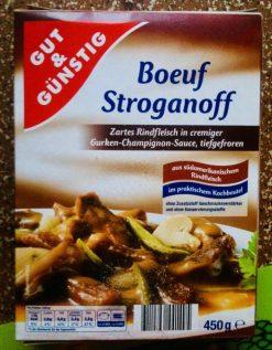 EDEKA Gut&Günstig Boeuf Stroganoff 450G Fertiggericht