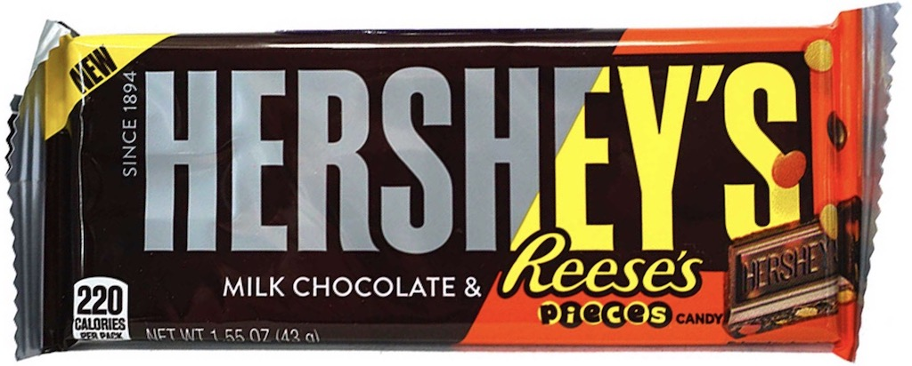 Hershey's Milk Chocolate+Reese's Pieces Candy Schokoriegel 43g