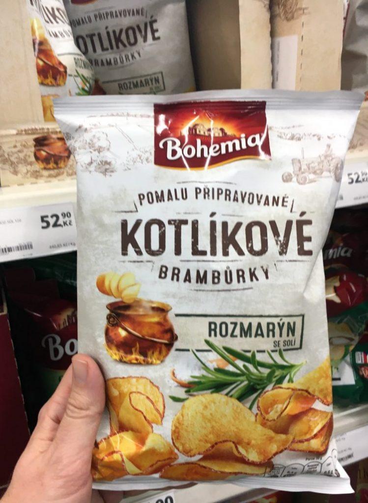 Intersnack Bohemia Kotlikové Bramburky Rozmaryn Rosmarin-Chips aus Tschechien 1-94€