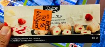 Lidl Deluxe Eispralinen Speisequark mit Himbeerfüllung 100 ML TK