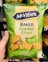McVities Baked Cracker Crisps Sour Cream&Schnittlauch