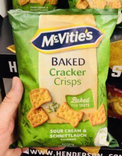 McVities Baked Cracker Crisps Sour Cream&Schnittlauch