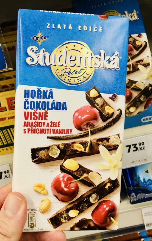 Orion Studentská Schokolade mit Nüssen und Kirschen Tschechien