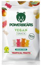 Powerbeärs Vegan Snack Tropical Fruits Sugarfree Fruchtgummi KETO-friendly