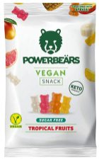 Powerbeärs Vegan Snack Tropical Fruits Sugarfree Fruchtgummi KETO-friendly