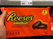 Reese's Rounds Chocolate biscuit stufed with Peanut Butter coated in milk chocolate 6er 96G