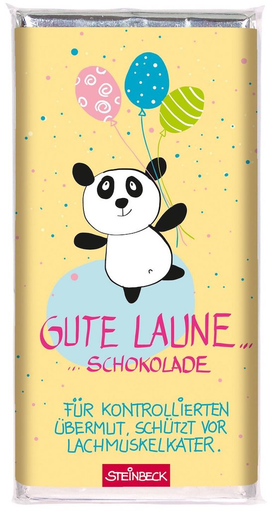 Steinbeck Gute Laune Schokolade Panda-Motiv