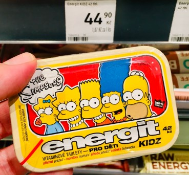 The Simpsons energit KIDZ Vitamintabletten Tschechien