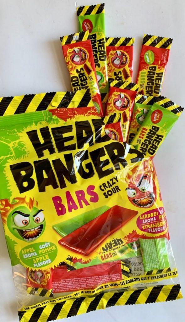 Tri D'Aix Headbanger Bars Crazy Sour Apfel und Erdbeere