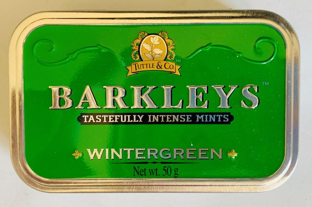 Tuttle & Co Barkleys Tastefully Intense Mints Wintergreen 50G