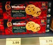 Walkers Gluten Free Chocolate Chip Shortbread 140G
