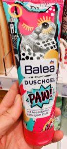 dm Balea Duschgel PAW Samtiger Duft mit Katzenmotiv