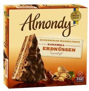 B+F Bakery & Food Almondy Torte mit Karamell und Erdnüssen